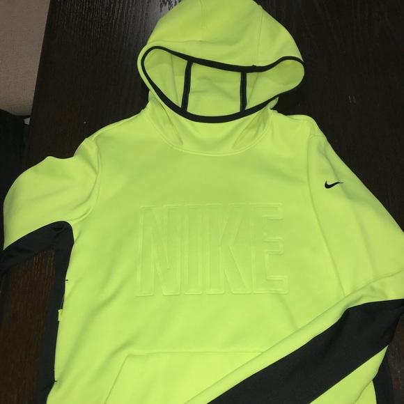 dc50a33d2816 Bright neon yellow Nike hoodie hidden pocket